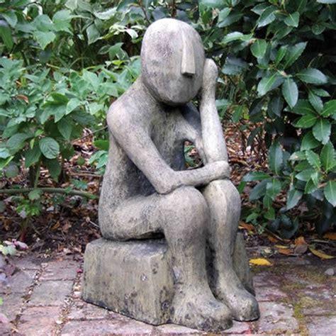 figuren für den garten skulptur kykladischer denker englischer antik steinguss
