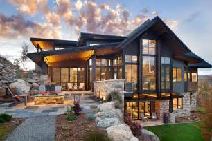 Fresh Mountain Top House Plans by Boulder Ridge Mountain Retreat Featuring Contemporary Elegance