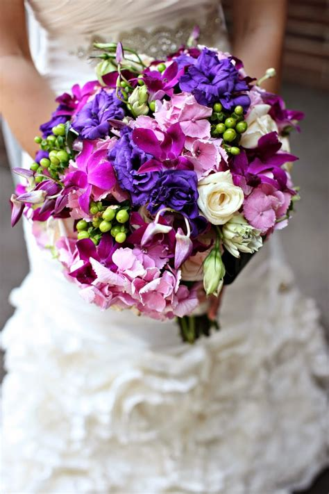 memorable wedding romantic purple wedding bouquets