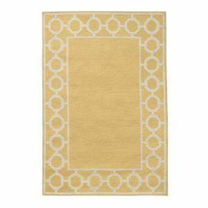 Home Decorators Collection Espana Border Yellow 5 ft x 7