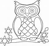 Coloring Owl Cartoon Ages sketch template