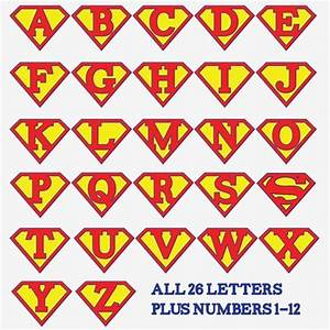 Superman alphabet letters template google search for Superman alphabet template