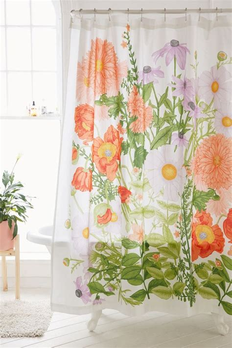 flower shower curtain marina floral shower curtain outfitters