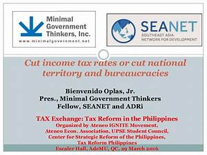 Cut income tax rates or cut national territory and ...