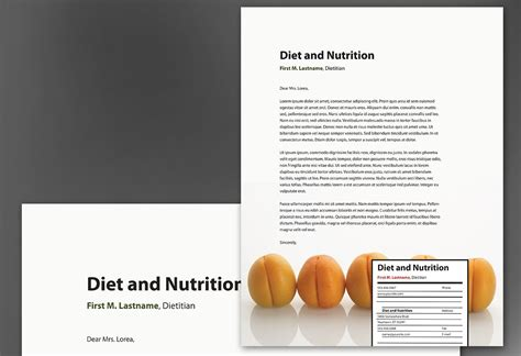 letterhead template  health  nutrition order custom