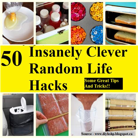 50 Insanely Clever Random Life Hacks  HOME and LIFE TIPS