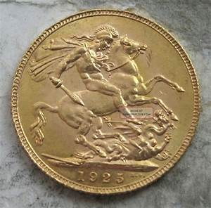 1925 Great Britain Gold Sovereign. Ch/gem Bu