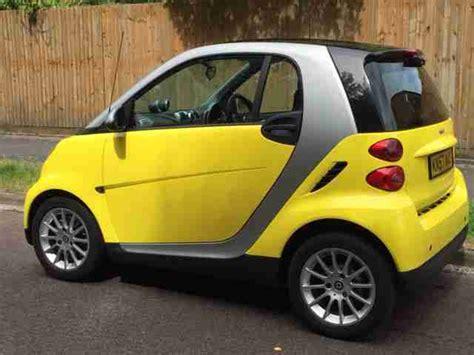 smart  fortwo passion  semi auto yellow car  sale