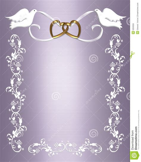 Wedding Invitation White Doves Royalty Free Stock Photo