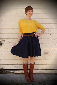 17 Best images about Winter Outfit Ideas on Pinterest | Opaque tights Skirts and Yellow sweater