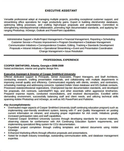 Resume Objective Executive Assistant by Administrative Assistant Resume Objective 6 Exles In
