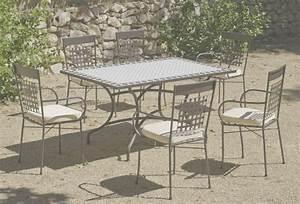Salon De Jardin Mosaique : table de jardin faience phil barbato jardin ~ Teatrodelosmanantiales.com Idées de Décoration