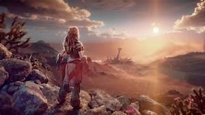 Horizon, Forbidden, West, Girl, Rocks, Clouds, 4k, Hd, Wallpapers