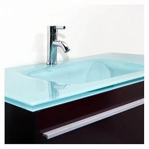 Vasque En Verre Salle De Bain : meuble vasque verre salle de bain ~ Edinachiropracticcenter.com Idées de Décoration
