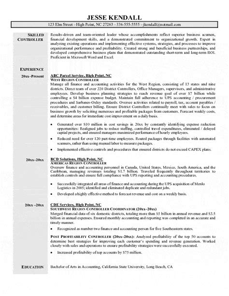 financial reporting manager cover letter sles controller resume