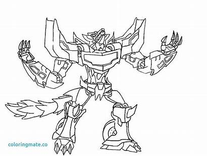 Coloring Pages Rescue Bots Transformers Dinobots Dinobot