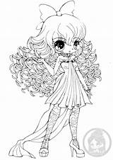 Coloring Yampuff Chibi Anime Pages Deviantart Hair Curly Haired Lineart Chibis Colouring Straight Printable Linearts Sureya Sheets Apache Draw Princess sketch template