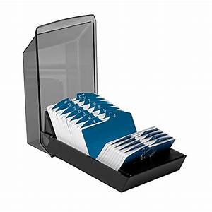 Rolodex 67011 rolodex covered business card file 500 2 1 for Business card file holder