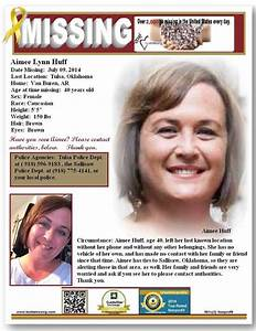 Missing: Aimee Lynn Huff Date Missing: July 09, 2014 Last ...