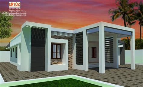 sq ft single floor contemporary home designs home