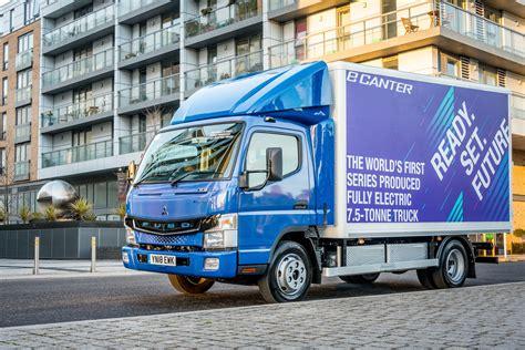 fuso ecanter electric truck test drive trucks