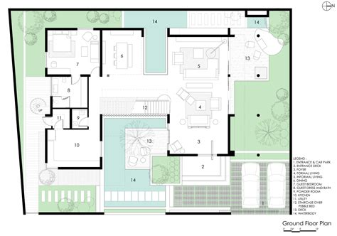 2828 ground floor plan gallery of courtyard house abin design studio 21