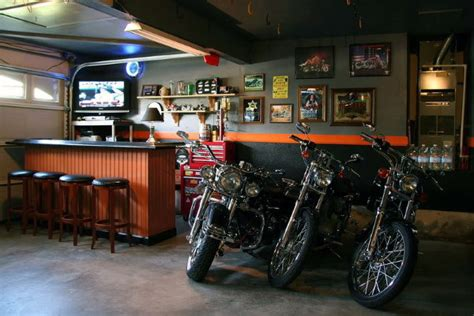 harley davidson pub 50 garage paint ideas for men masculine wall colors and