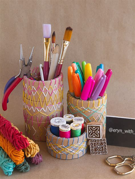 diy pencil holder for desk 100 handmade gifts for every home