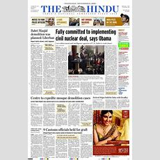 The Hindu Newspaper's Front Page  Newspapers  Pinterest  Hindus, Newspaper Front Pages And
