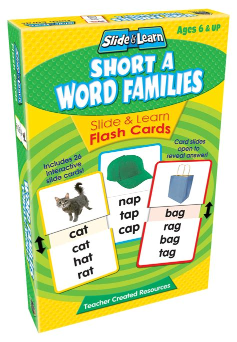 Short A Word Families Slide & Learn Flash Cards  Tcr6557  Teacher Created Resources