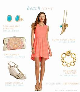 coral blue and gold With beachy dresses for a wedding guest