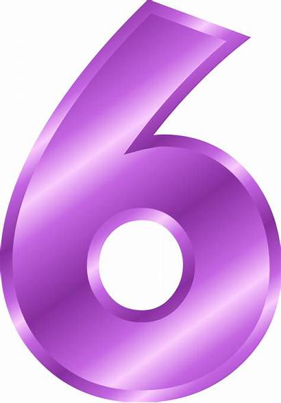Number Clip Clipart Purple Numbers Cliparts Numeral