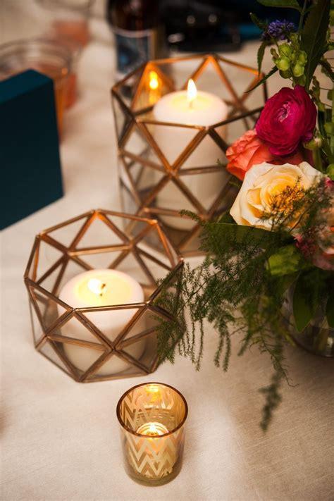 diy industrial geometric inspired wedding geometric