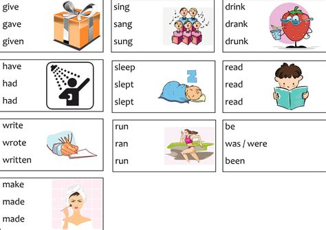 Irregular Verbs Worksheets  Games To Learn English  Games To Learn English