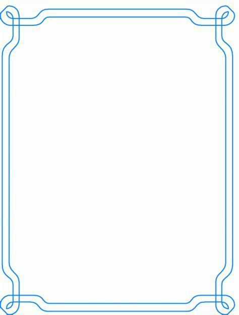 geschwungener blauer rahmen ausmalbild malvorlage rahmen