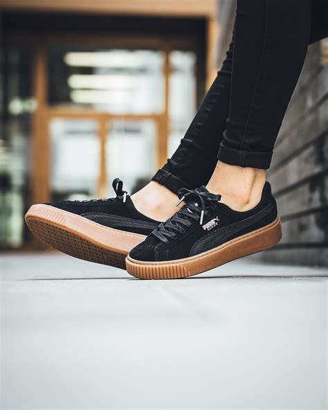 puma suede platform animal black puma puma shoes