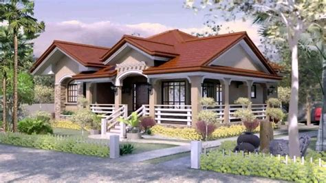bedroom bungalow house plans  philippines youtube