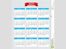 Inizio Domenica Di Settimana Di Calendario 2021