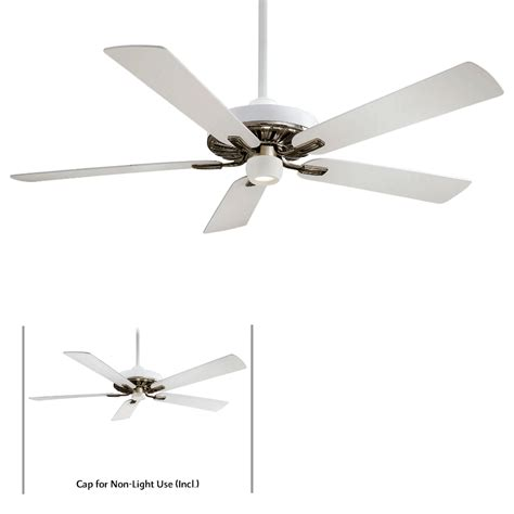 60 ceiling fans with light and remote minka aire f672 wh bn iconic white nickel 60 quot ceiling fan