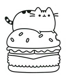 Pusheen Cat Book Coloring Pages
