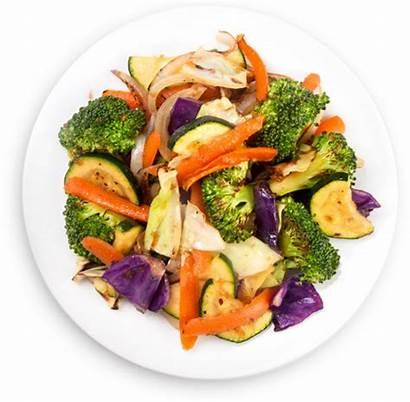 Veggies Plate Vegetables Salad Menu Momo Rice