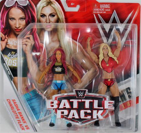 wwe sasha banks charlotte flair battle packs  toy