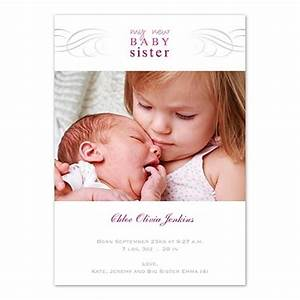 Baby Sister Birth Announcement newborn big infant