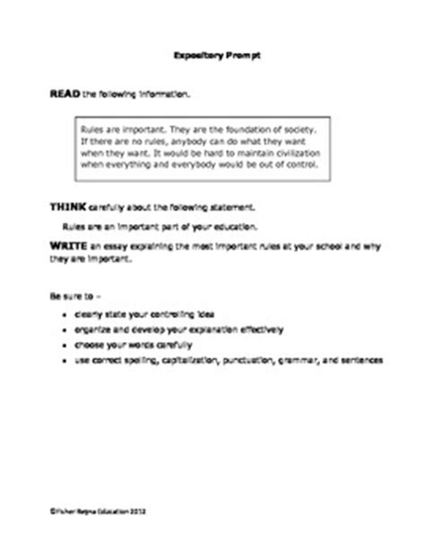 Descriptive Essay Topics For 6th Graders by Expository Writing Prompts Grade 6 8 Staar And Cc Aligned