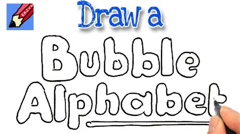draw bubble writing real easy youtube