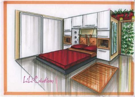 chambre en perspective dessin chambre le de elise fossoux croquis