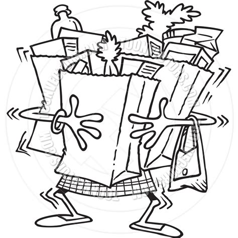grocery clipart black and white grocery shopper black and white clipart