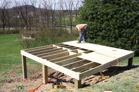 building a shed on concrete piers how to build a foundation for a shed on a slope how to