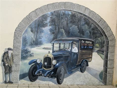 panoramio photo of trompe l oeil fresque murale rue de hertford evron
