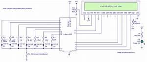 Ohmmeter Circuit Using Arduino